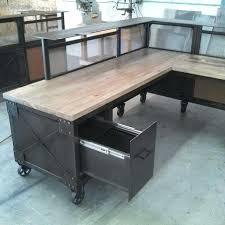 reclaimed wood l shaped desk reclaimed wood l shaped desk l shaped desk steel and beetle kill