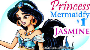 art challenge disney mermaids jasmine pretty