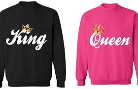 king matching sweatshirts his and sweaters