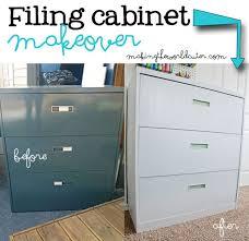 Metal Filing Cabinet Filing Cabinet Makeover