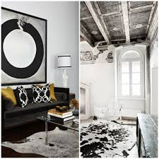 Cowhide Rug In Living Room Black White Cowhide Rug Rug Designs