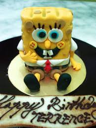 spongebob cake toppers spongebob cake topper by sliceofcake on deviantart