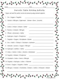 periodic table activity answers periodic table christmas activity by teaching elements tpt