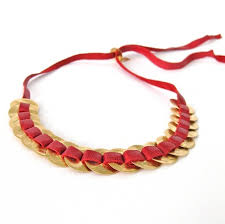 red leather necklace images Leather discs fashion necklace leather necklace jpg