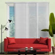Panel Track Blinds For Sliding Glass Doors Blackout Panel Track Blinds Blinds The Home Depot