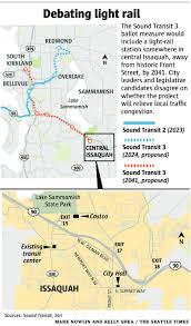 Light Rail Map Seattle Light Rail Stop In Issaquah Growing City At Crossroads The
