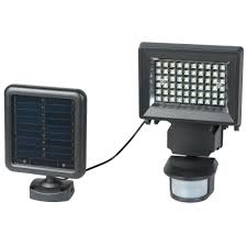 Defiant Motion Security Led Light Solar Powered by Duracell 120 Degree Solar Black Outdoor Led Motion Security Light
