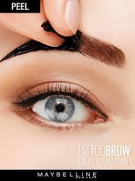 eyebrow feather tattoo uk how to use eyebrow tattoo peel off tint maybelline