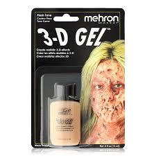 liquid latex halloween city amazon com mehron fleshtone 3d gel 2 oz toys u0026 games
