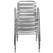 chaise bistrot alu table ronde alu 4 chaises mobeventpro