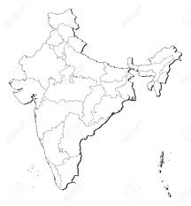 India Map Of States by Political Map Of India With The Several States Royalty Free