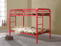 Metal Bunk Bed Ladder Donco Kids T T Metal Bunk Bed Red 4501 3rd Metal Bunk Beds