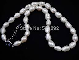 white necklace images Free shipping 17 quot 8 9 10 13mm white baroque real pearl necklace jpg