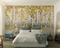 Wall Mural White Birch Trees Compare Prices On Birch Forest Wallpaper Online Shopping Buy Low