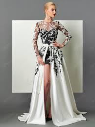 abendkleid designer designer sleeve applique abnehmbaren zug langes abendkleid