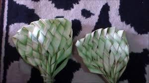 cara membuat kerajinan tangan dari janur cara membuat kipas dari daun kelapa youtube