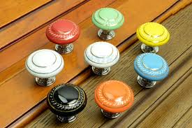porcelain knobs for kitchen cabinets retro style kitchen cupboard door pull handles ceramic drawer