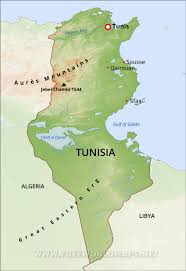 tunisia on africa map tunisia physical map