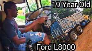 19 yr old u0026 trucking shifting the 10 speed ford l9000 dump