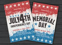 stockpsd net u2013 free psd flyers brochures and more july 4th