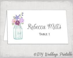 Table Card Template by Place Card Template Printable Wedding Name Cards Mason