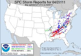 Weather Hale Barns Spc Severe Weather Event Review For Wednesday April 27 2011