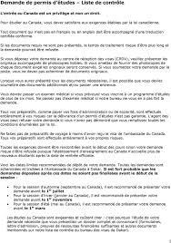 bureau des visas canada immigration canada permis d études directives du bureau des visas