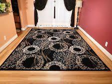 6x8 Area Rug Contemporary Carpet Woven 6x8 Area Rug Black Gray Red White Actual
