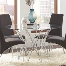 coaster cabianca contemporary round glass dining table dunk