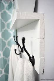 diy towel rack with a shelf dwelling in happiness