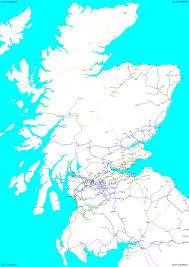 Great Britain World Map by Railscot Clickable Map Of Scotland