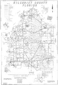 Florida County Maps by Gilchrist County Map