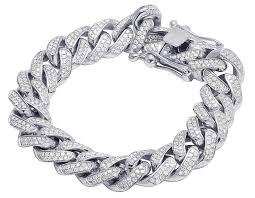 bracelet diamond men images Jewelry unlimited 14k white gold men 39 s diamond 15mm miami cuban jpg