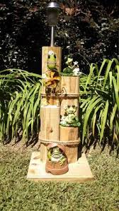 solar light wood crafts wooden pilings for custom nautical lawn