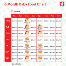 table food ideas for 9 month old 6 months baby food chart with indian recipes