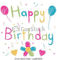 happy birthday card vector illustration search clipart drawings