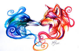 and wolf tattoos design