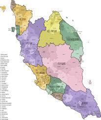 Map Of Malaysia Clipart Malaysian Parliament Constituencies 2015 Peninsular
