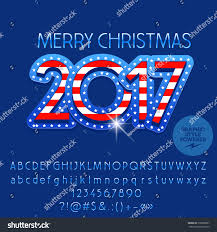 vector merry 2017 greeting card stock vector 518908987