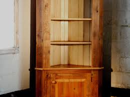Corner Cabinet With Glass Doors Furniture Immaculate Barn Wood Country Corner Cabinet For Rustic