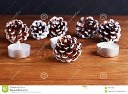 christmas background with christmas decorations pine cone and