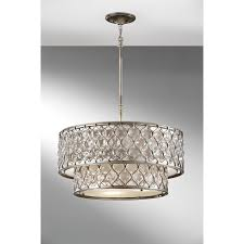 sausalito five light chandelier lighting drum pendant light shades hanging poly silk shade by
