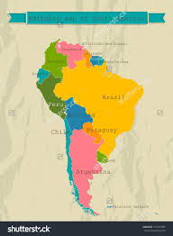Map Of South American Countries Map Of Pan America All America Map Zufm World Map Europe Asia