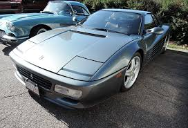 grey ferrari cars and coffee at larz anderson museum the auto blonde