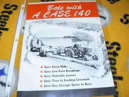 case tractor 140 baler dealer u0027s brochure u2022 13 49 picclick