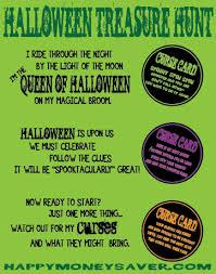 Backyard Scavenger Hunt Ideas Halloween Treasure Hunt Free Printables