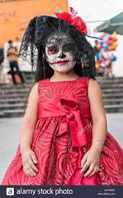 catrina costume a mexican girl dressed in la calavera catrina costume for