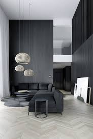 Interior Livingroom Easst Com Living Room Double Height Space With Black Wood