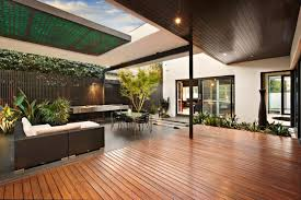 Designer Decks And Patios by Deck Design Ideas Swimming Pool Wooden Patio And Modern Fire Pit