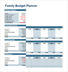 Excel Household Budget Template Family Budget Template Monthly Family Budget Template For Excel